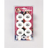 Rossi 3 Star Ball - 6 Count in White