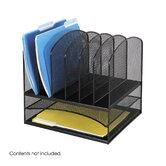 "Mesh Desk Organizer, Eight Sections, 13.5"" Wide"