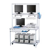 Wire LAN Workstation in Metallic Gray