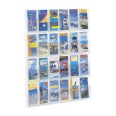 Reveal Clear Literature Displays, 24 Compartments