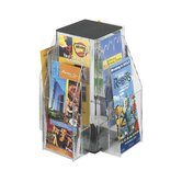 Safco Clear Pamphlet Table Display with 8 Pockets (2-Tier Square)