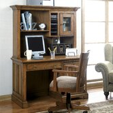 "Woodland's Oak 50"" W Computer Desk with Hutch"