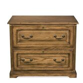 Seville Square Two Drawer Lateral File in Warm Oak