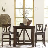 Castlewood Gathering Height Dining Table in Warm Tobacco