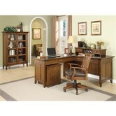 Oakton Village Mid-Back Leather Office Chair