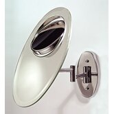 W* 7.5Wall Mount Mirror with Tri-Optics Swivel in Chrome