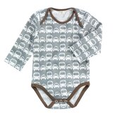 Cars Boy's Long Sleeve Bodysuit in Grey