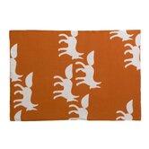 Foxes Orange Graphic Knit Blanket