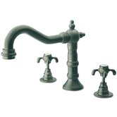 Ornellaia Double Handle Deck Mount Roman Tub Faucet Trim Cross Handle