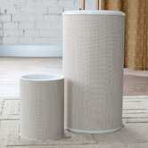 Raine Round Hamper with Wastebasket Set