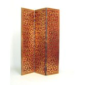 Three Panel Bronzed Vine Room Divider