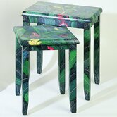 Rainforest Parrot 2 Piece Nesting Tables