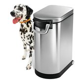 8 Gallon Pet Food Storage Can in Brushed Stainless Steel