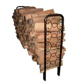 8' Ornamental Scroll Log Rack