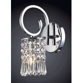Optix Wall Sconce in Polished Chrome and Clear Crystal