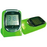 &quot;Global Sync&quot; Atomic Clock in Shiny Green