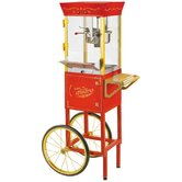 Vintage 53&quot; Circus Cart Popcorn Maker in Red