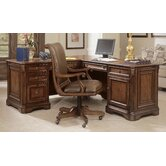 "Brookhaven 69"" W Executive L - Shape Desk with Right Return and Swivel Desk Chair"