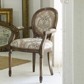 Melange Chelsea Accent Fabric Arm Chair