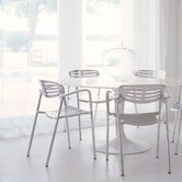 Eero Saarinen 5 Piece Dining Set With Toledo Stacking Chairs