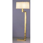 "Doughnut ""C"" Floor Lamp in Antique Natural Brass"