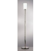 Nina  Floor Torchiere in Polished Nickel