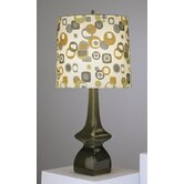 Jayne Table Lamp in Tobacco Glazed Ceramic with Artichoke/Tobacco Shade