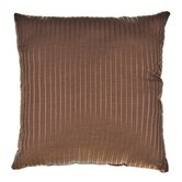 "Iris 18"" Pillow in Chocolate"