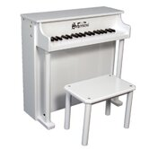 Traditional Deluxe Spinet Piano in White