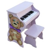 25 Key Teddy Bear Piano &amp; Bench in Lavender