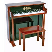 Traditional Deluxe Spinet Piano in Mahogany and Black