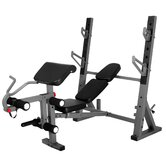 International Olympic Weight Bench with Leg and Preacher Curl Attachment