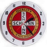 Double Bubble Schwinn Glass Clock