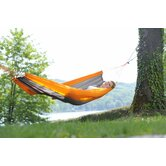 Silk Traveller Techno Outdoor Hammock in Orange-Grey