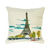 Tour Eiffel Pop Tapestry Pillow