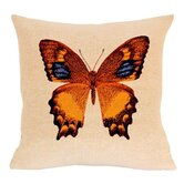French Tapestry Cotton Heliconius Pillow