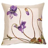 French Tapestry Cotton Violettes Pillow