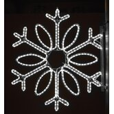 "36"" Pole Decoration Single Loop Snowflake in Pure White"