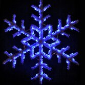 60&quot; Hanging Garland Snowflake in Blue