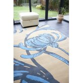Retro Classics Loretta Beige / Blue Contemporary Rug/Runner