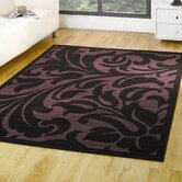 Element Warwick Black / Purple Contemporary Rug/Runner