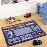 Kiddy Play Racing Car Boy Kids Rug