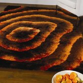 Splendour Deluxe Allure Brown/Orange Shag Rug