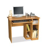 "Basic 40"" W Computer Work Station in Cappuccino Cherry"