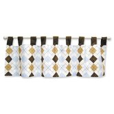 Prep School Blue Tab Top Window Valance