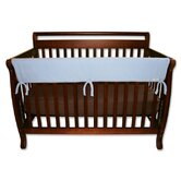 "51"" Blue Fleece Front Crib Rail Cover"