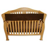 "51"" Brown Fleece Front Crib Rail Cover"