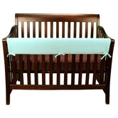 Crib Wrap Long Teal Fleece Rail Cover
