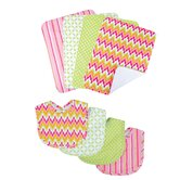 Savannah Bouquet Bib and Burp Cloth Set