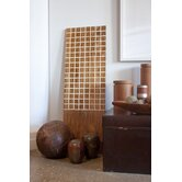 Pura Vida I Off The Grid Teak Panel in Natural with White Grid